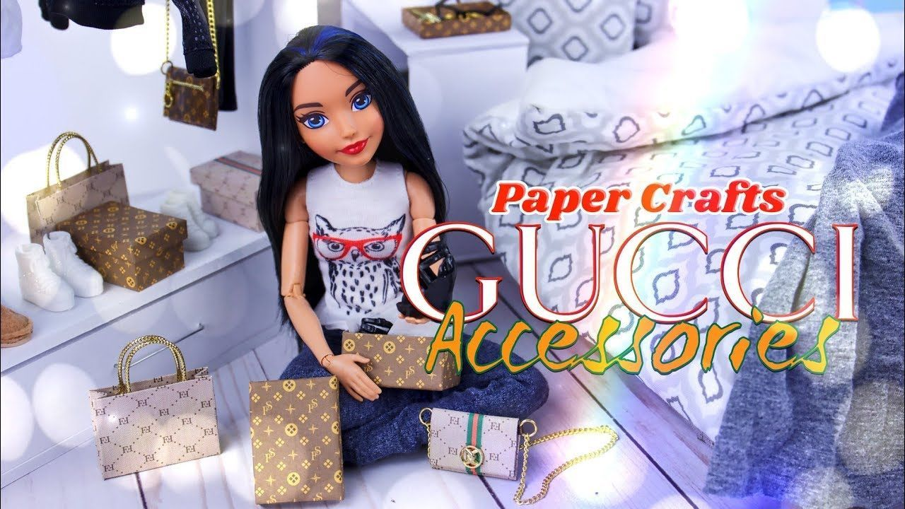 92e5eafa1283 DIY - How to Make: GUCCI Style Doll Accessories | Bags | Boxes | Purse -  YouTube #purseyoutube