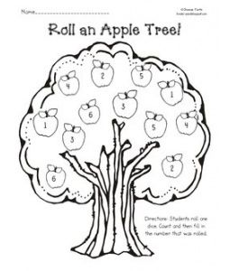 Roll an Apple Tree Roll an Apple is a dice game. Students