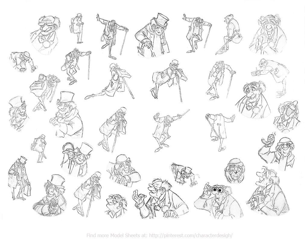 "Disney Character Design References : ""the aristocats walt disney animation studios"