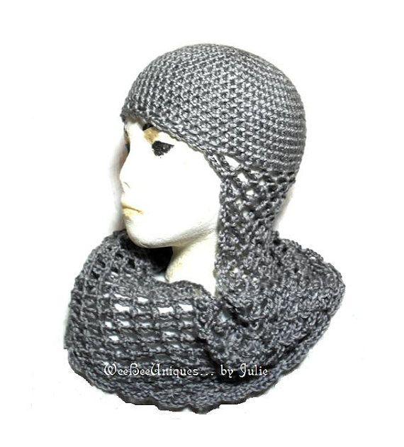 crochet chainmail medieval knight helmet | Tejidos medievales y ...