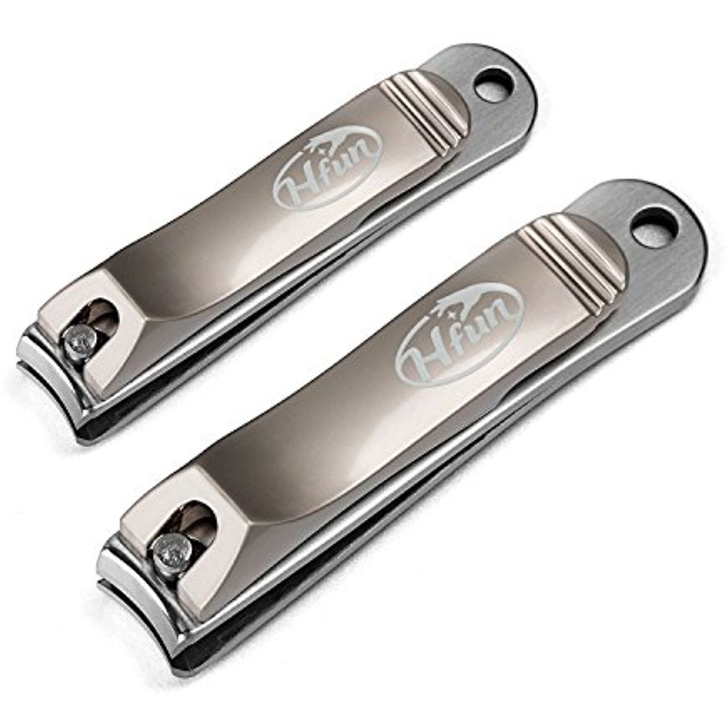 Hfun Nail Clippers Set- Stainless Steel Fingernail and Toenail ...