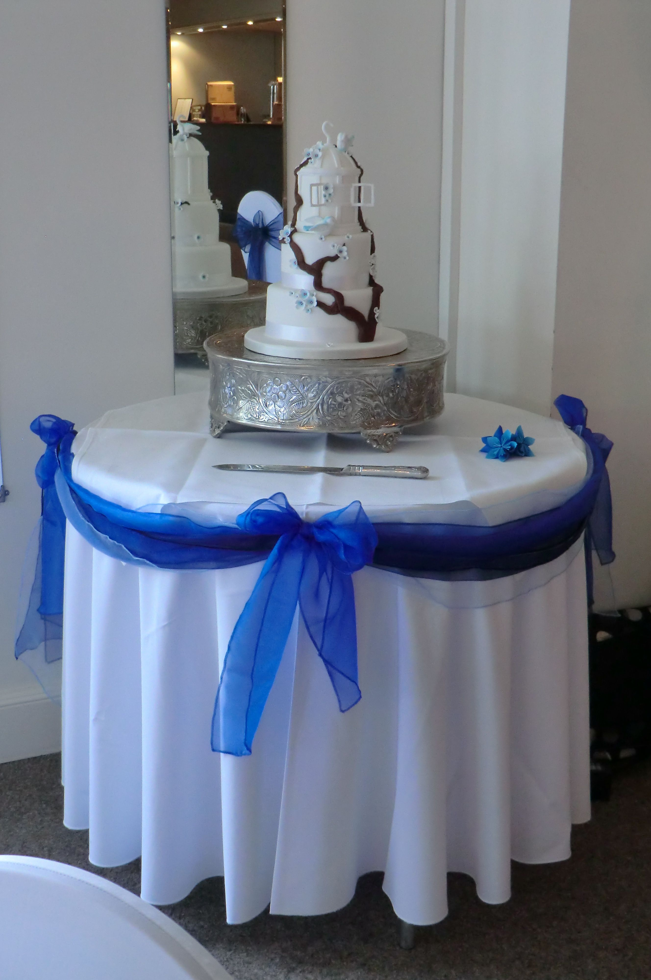 Cake Table Mini Swag Using Shades Of Blue Www Dedicated2detail Co