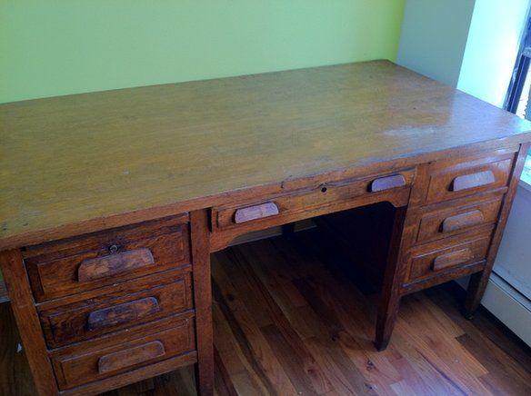Gorgeous Antique Oak Teacher S Desk In Prospect Heights Brooklyn Ny Usa Krrb