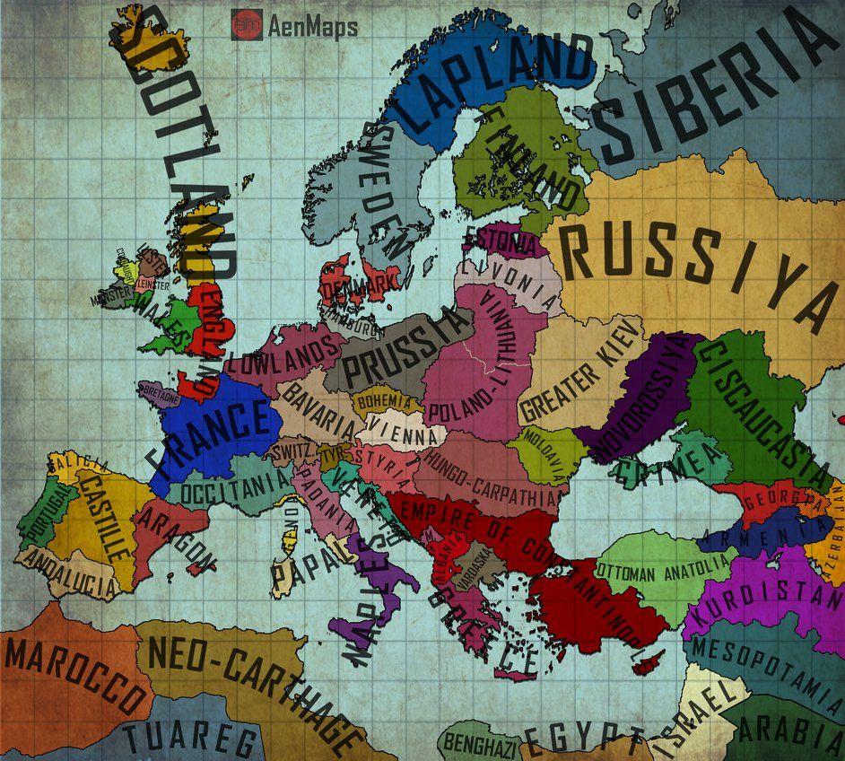 An Alternate Europe   Map 1.0 by AenMaps.deviantart.on