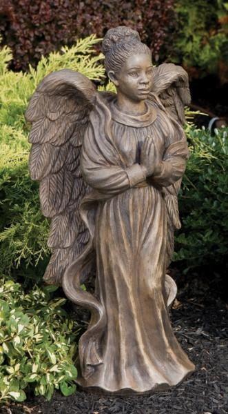 African American Angel Garden Statue !!!