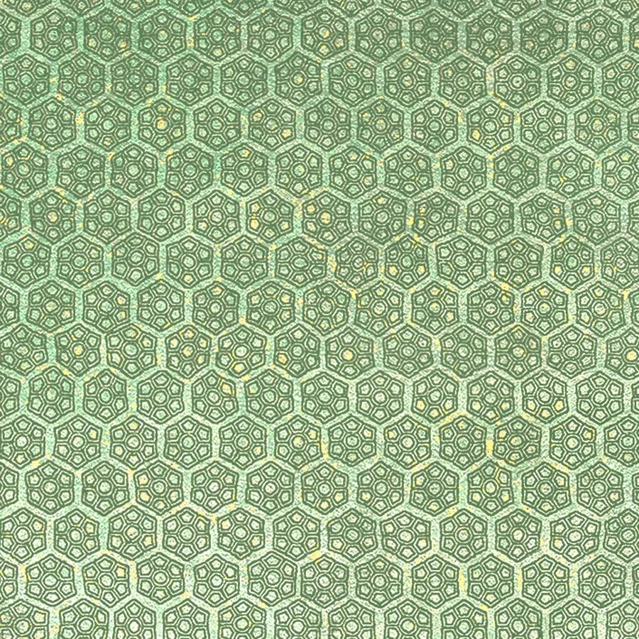 Lime Green Floral Hex geometric floral simple small scale