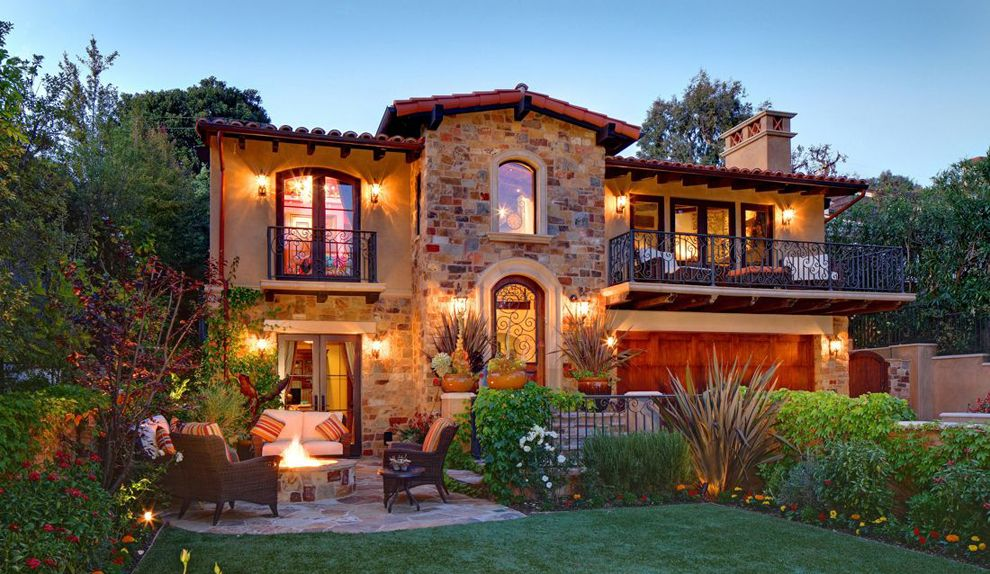 Rustic Mediterranean Pritzkat Johnson Architects Spanish Style Homes Tuscan Style Homes Tuscan House