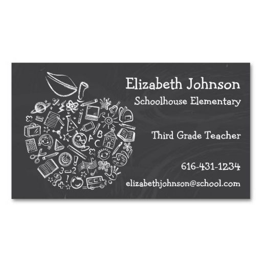 Teachers apple business card teacher business cards pinterest teachers apple business card this great business card design is available for customization all text style colors sizes can be modified to fit your reheart Choice Image