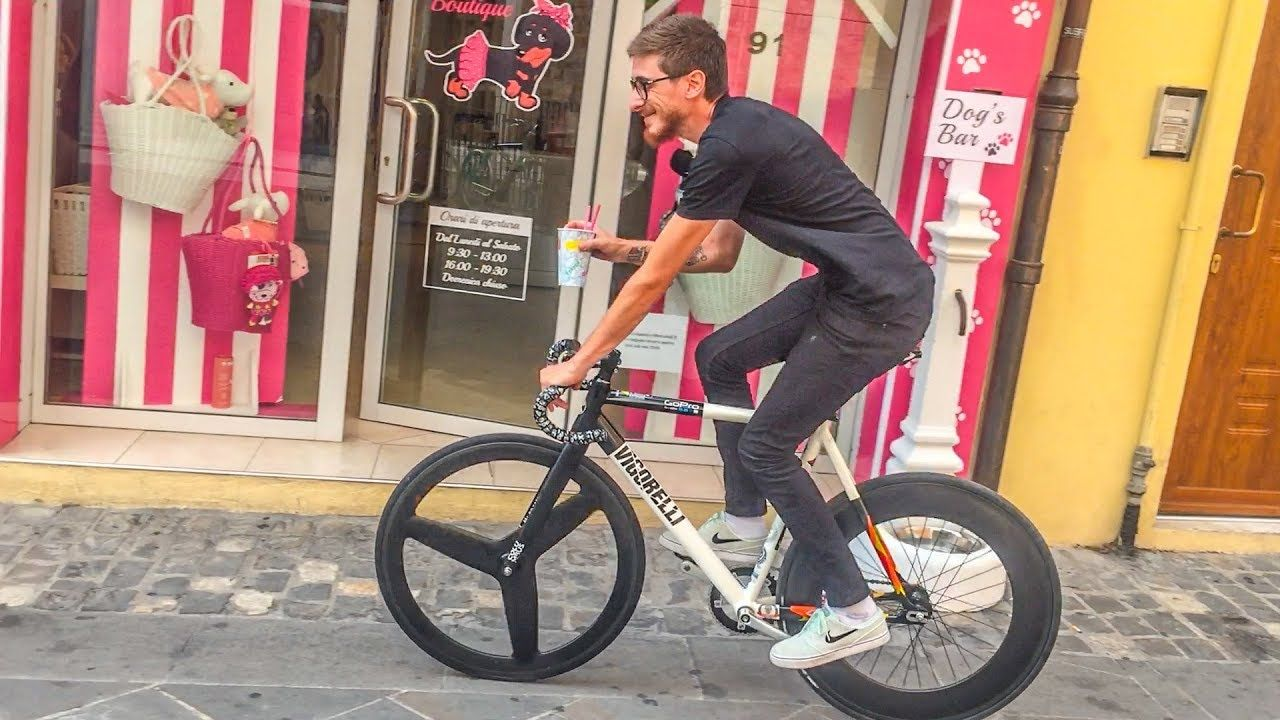 Around With Wolfbotts King Of The Fixedgear Drinks The Granita