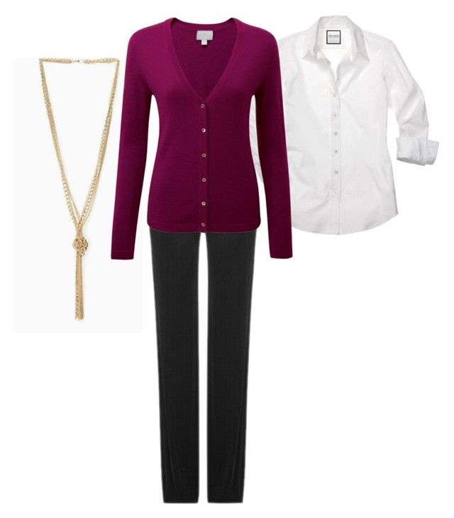 """Business casual plus size 42 hourglass shape"" by vajna-zsofia on Polyvore featuring Pure Collection"