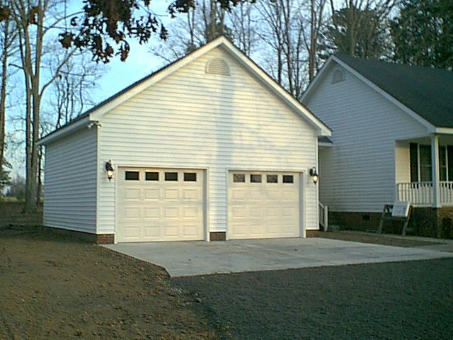 Pictures of detached two car garage garage addition for Attached garage addition plans