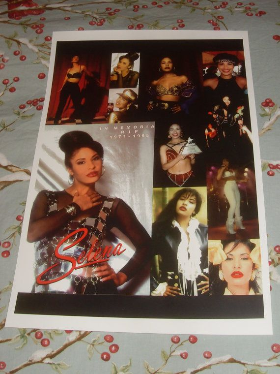 Selena In Memorial Collage poster Brand New  by SelenaBoutique