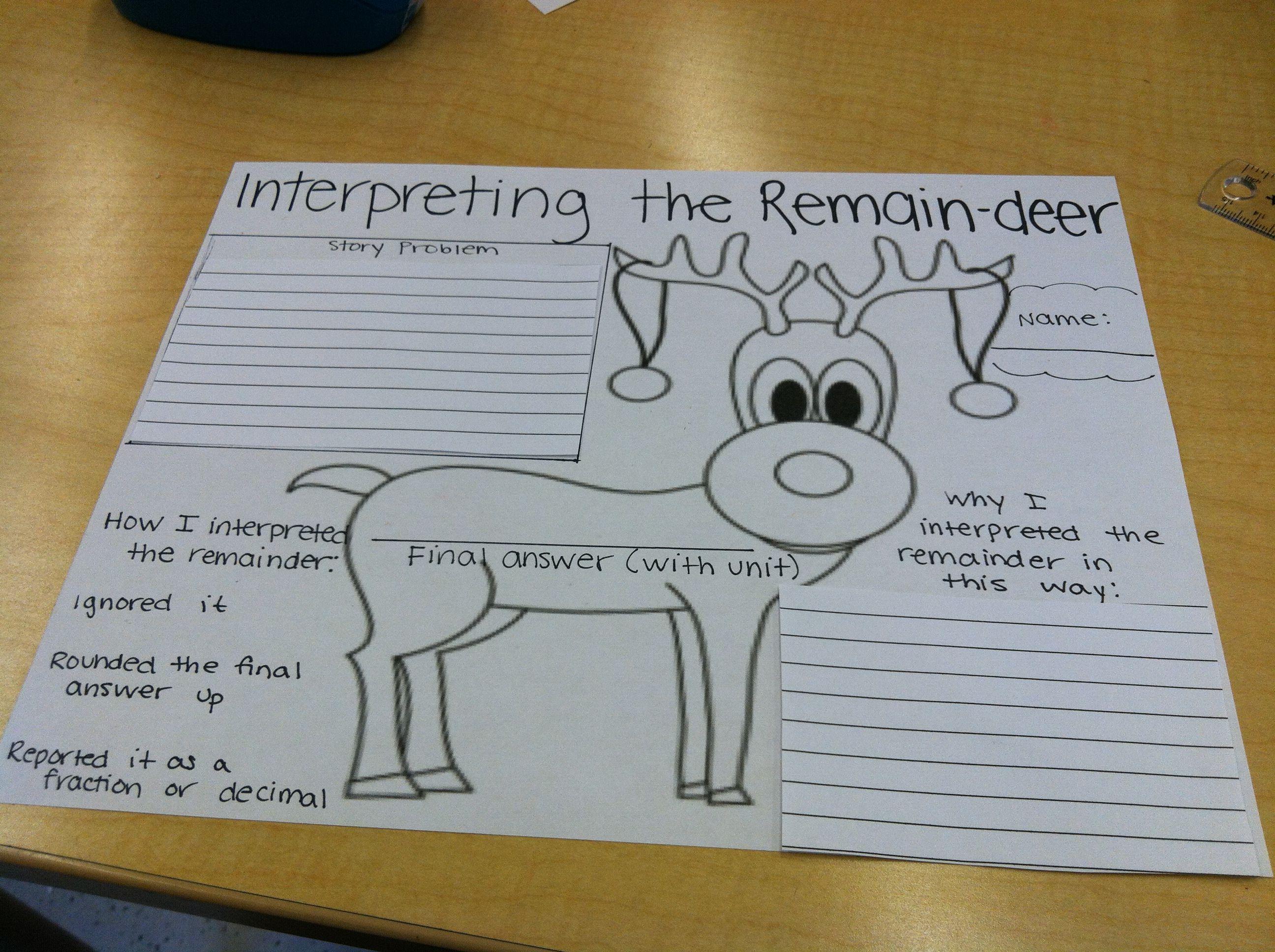 Interpreting The Remain Deer For Winter Division Fun