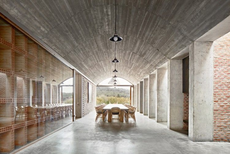 Winery In Mont Ras Jorge Vidal Victor Rahola Wineries Architecture Barrel Vault Ceiling Architecture