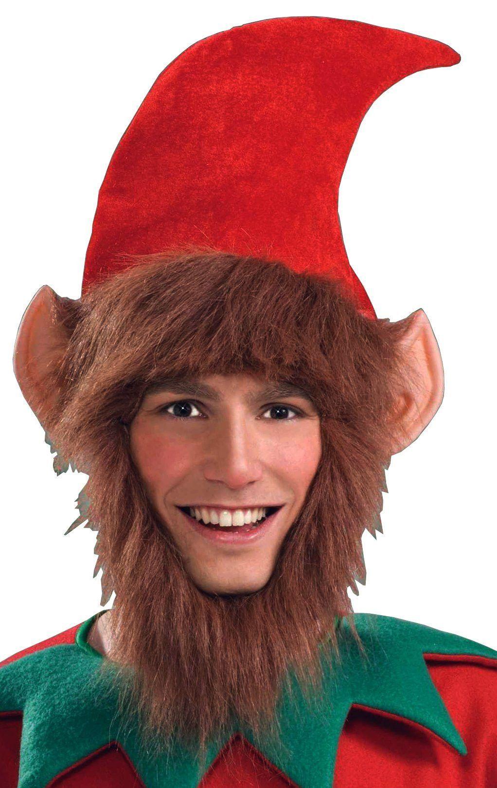 69ddffaaa2198 Christmas Elf Ears   Beard Costume Hat