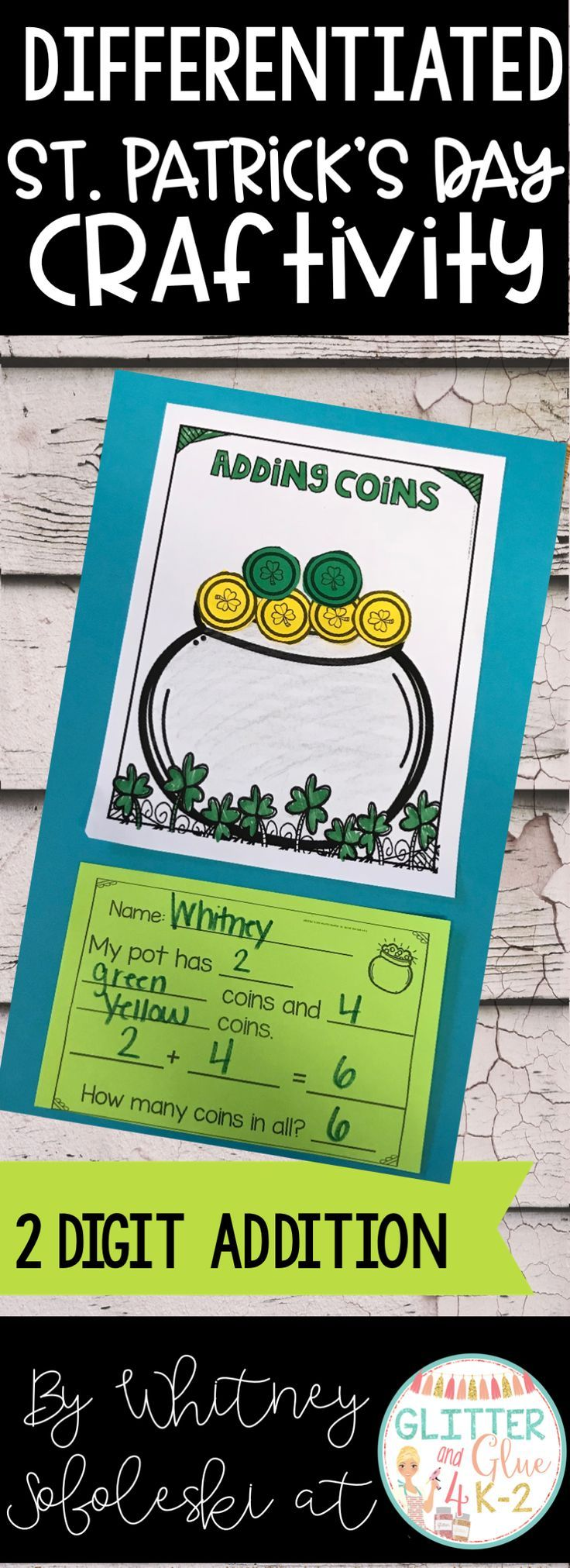 St. Patrick\'s Day Math Craft-Differentiated | Math crafts ...