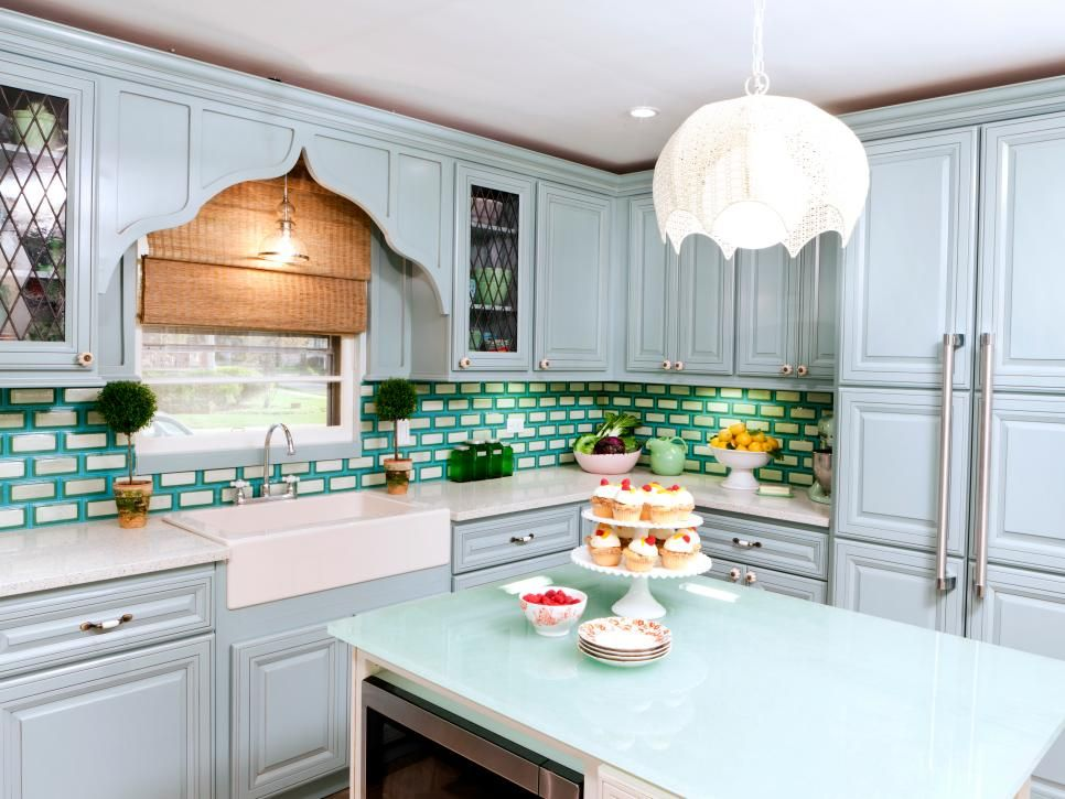 Design Trend Decorating With Blue Kitchen Cabinet