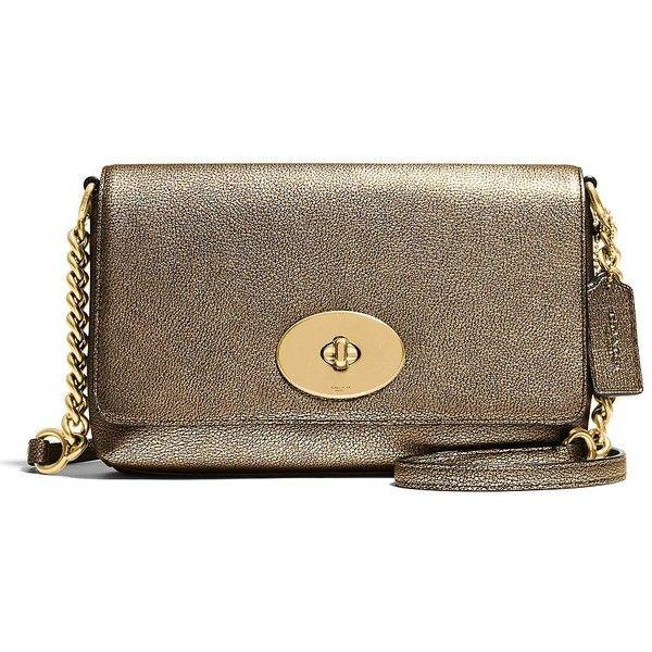 77eafaf2d9d COACH Crosstown Metallic Pebbled Leather Crossbody Bag ($200 ...