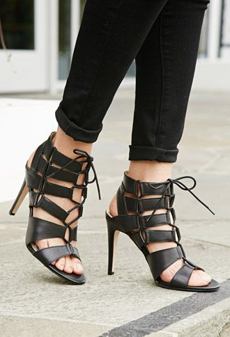 Dolce Vita Cutout Gladiator Sandals | Forever 21 | Heels