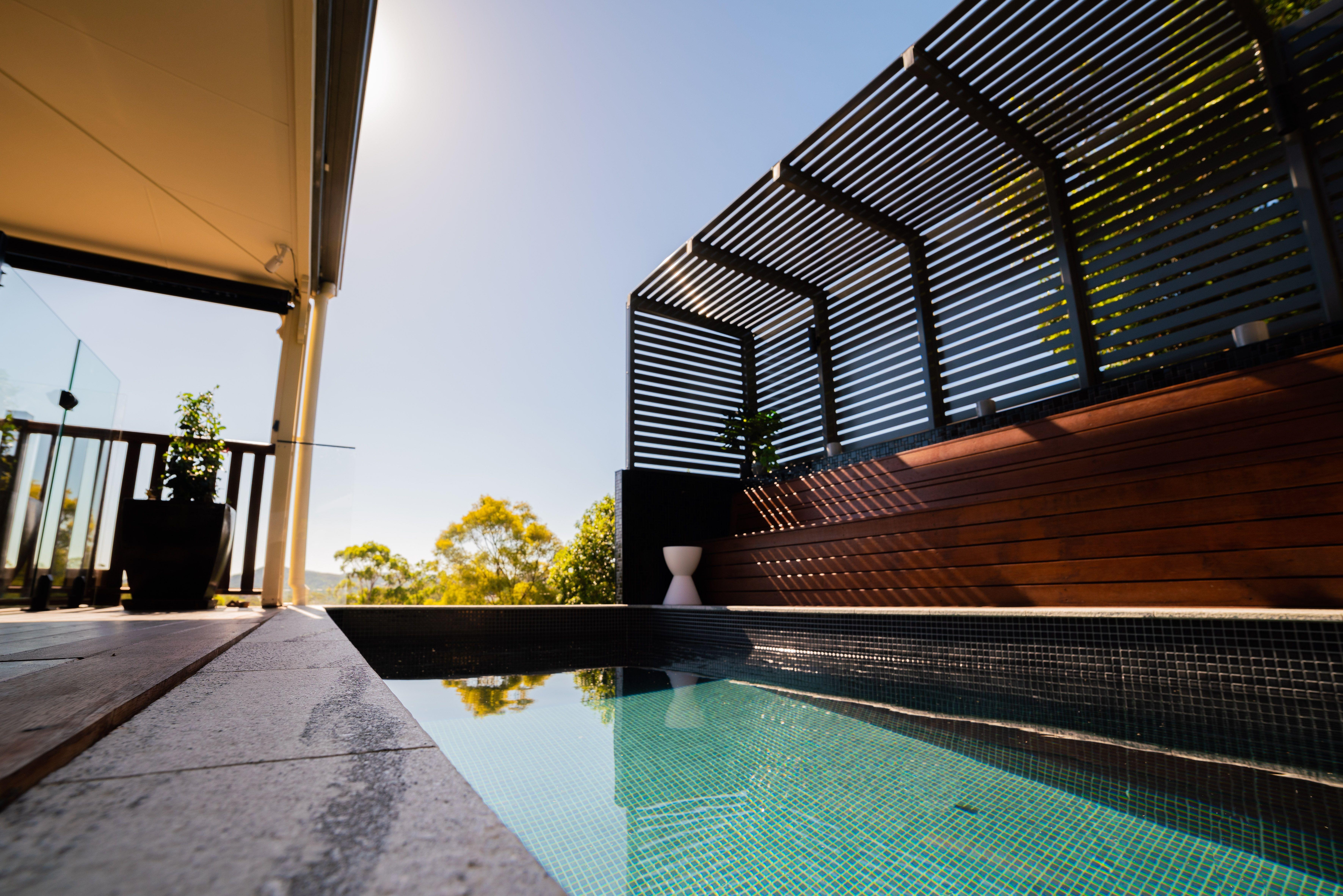 Allcast Precast Concrete Rectangle Plunge Pool Delivery Australia