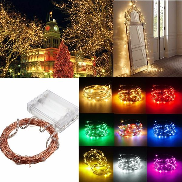 4M 40 LED Copper Wire Fairy String Light Battery Powered Waterproof - outdoor christmas decorations wholesale