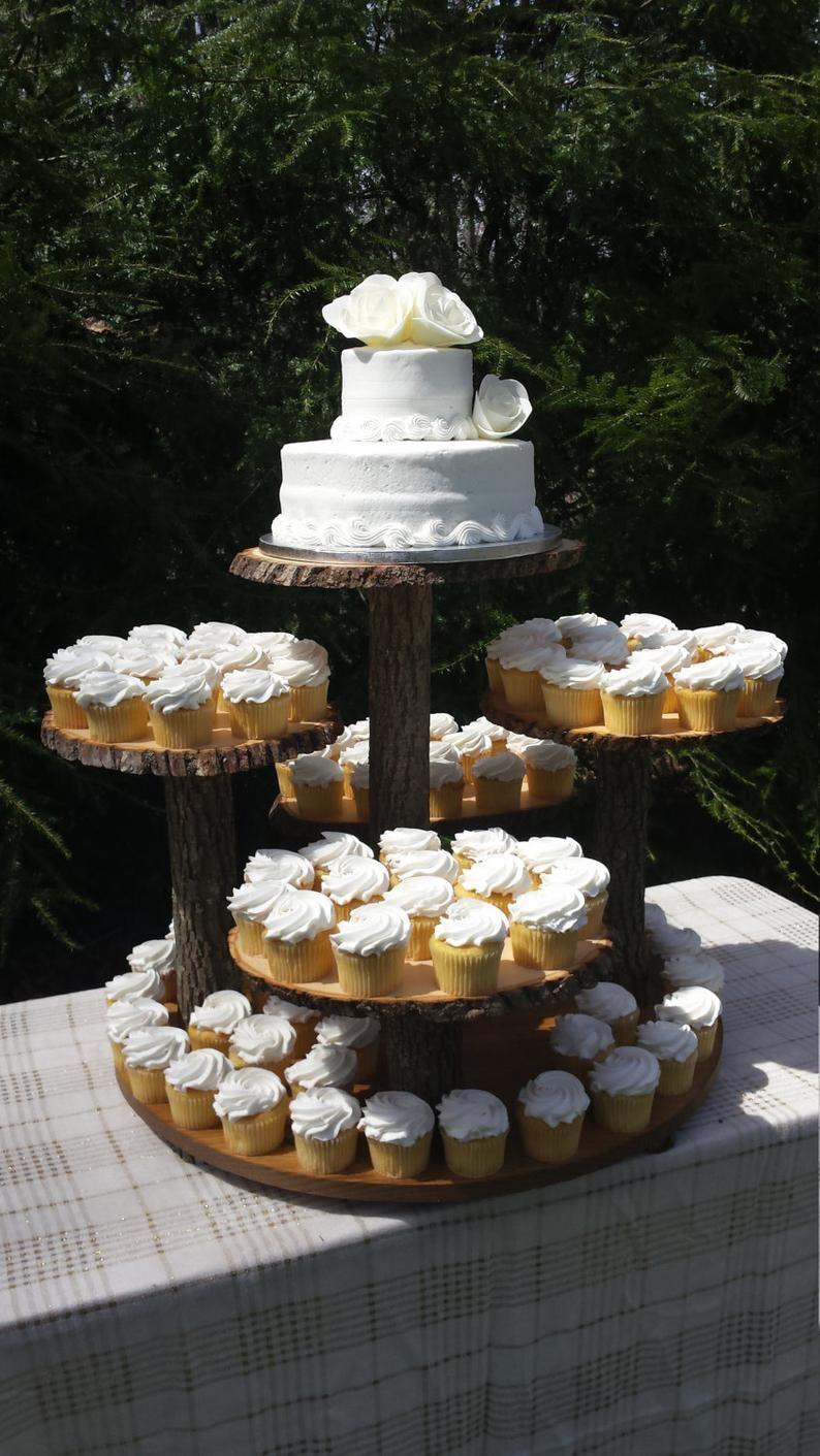 Rustic Cupcake Stand Log Cupcake Stand Tree Cupcake Stand