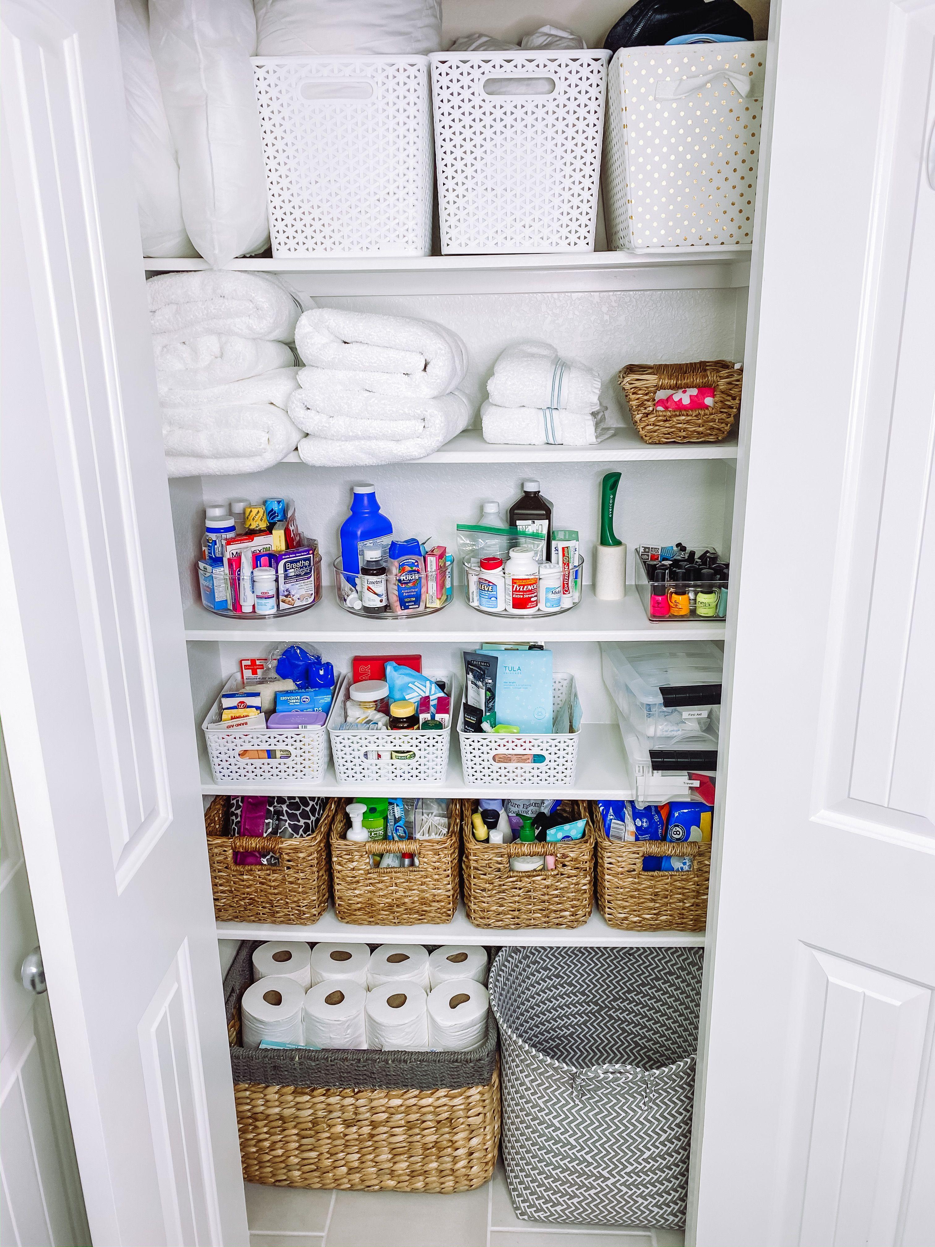 Linen Closet Organization Target Baskets Linen Closet Linen Closet Organization Closet Organization