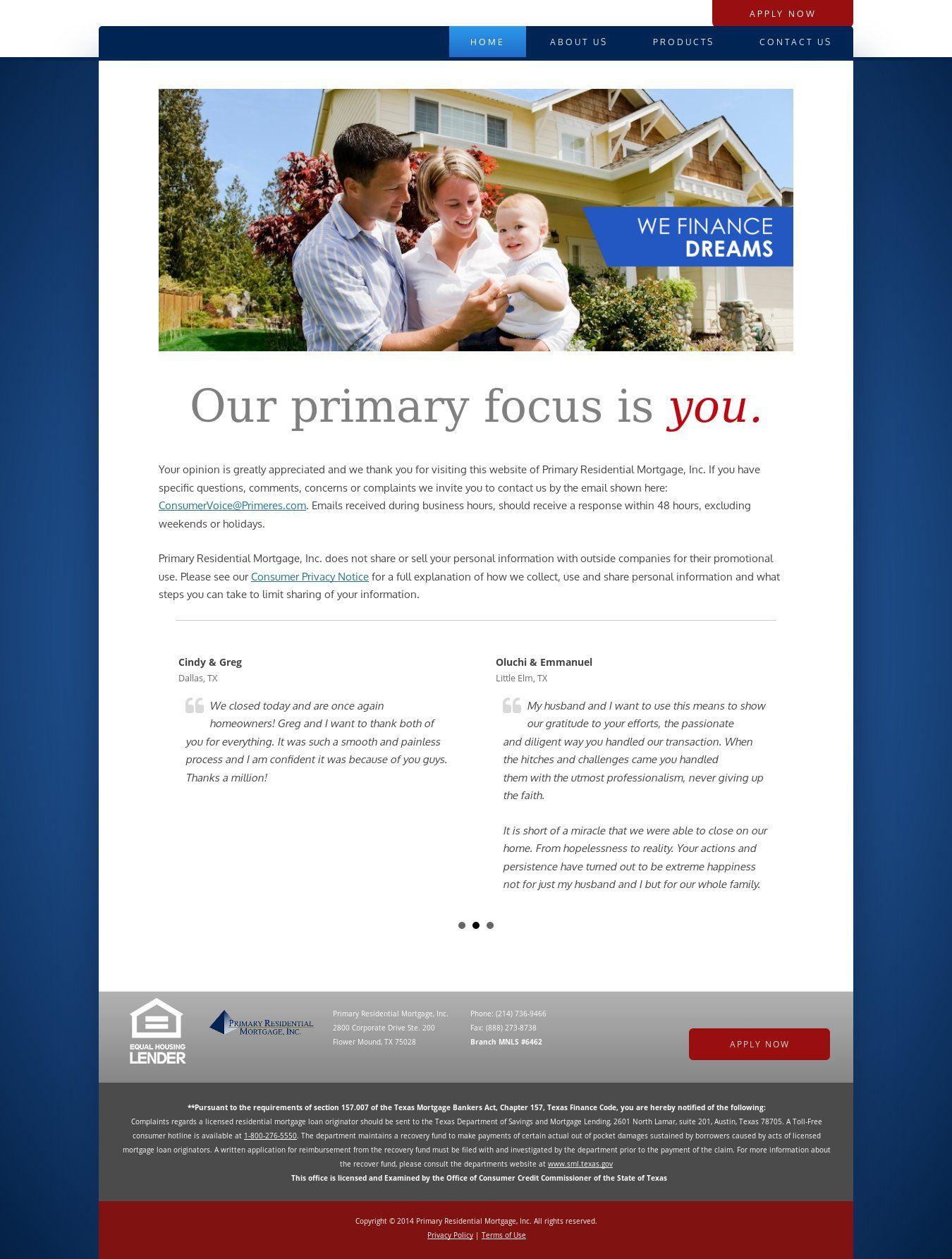 WordPress site primerestx.com uses the Twenty Twelve Child wordpress ...