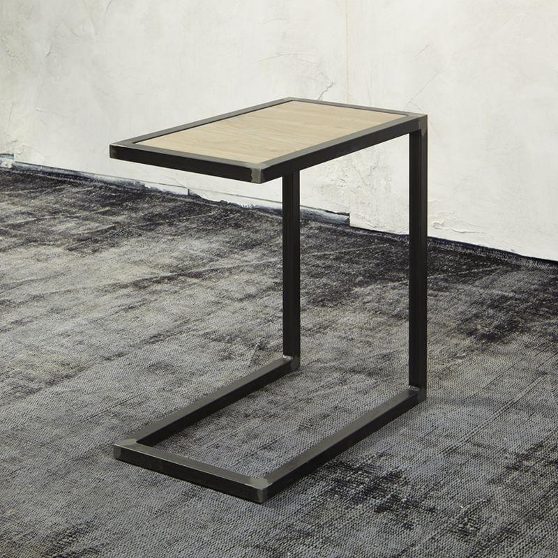 Spinder Design DIVANI Beistelltisch mit Ablage in Eiche Jetzt - wohnzimmer tische günstig