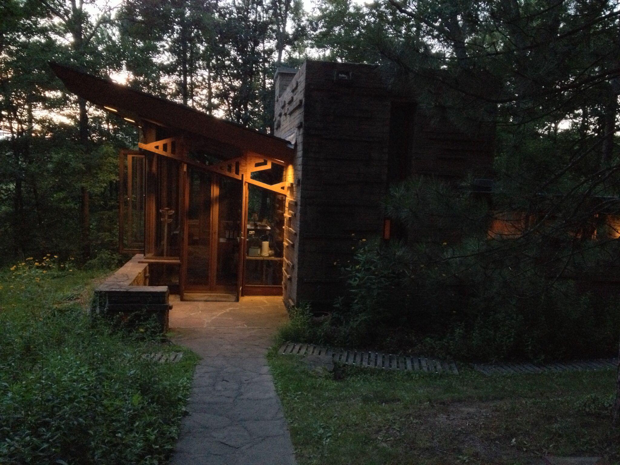 Seth Peterson Cottage, Mirror Lakes, WI. Frank Lloyd Wright. FLW.