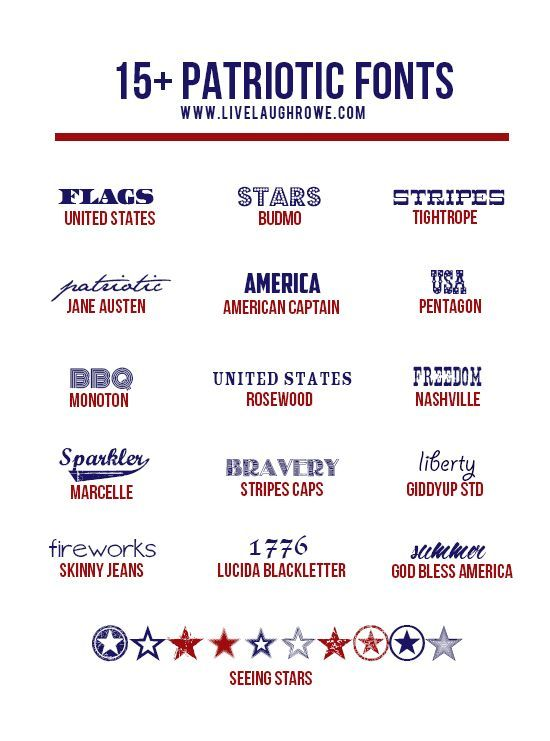 Snatch up these festive and free Patriotic Fonts from www
