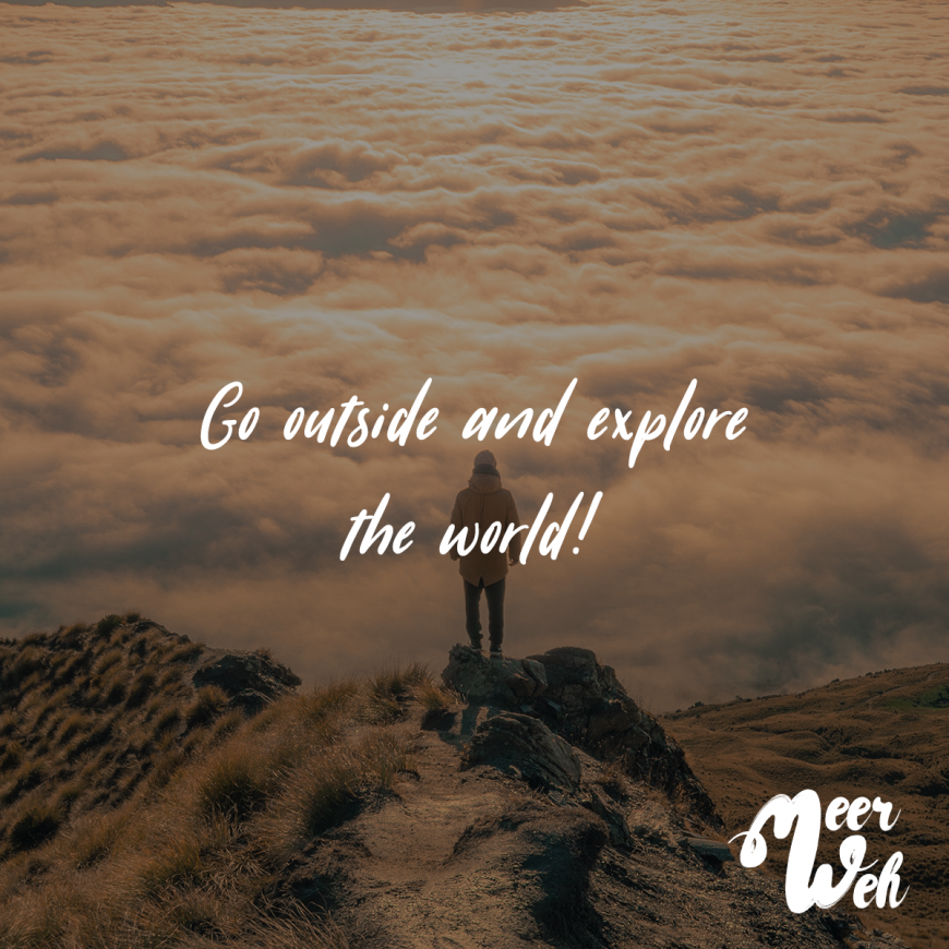 visual statements® got outside and explore the world