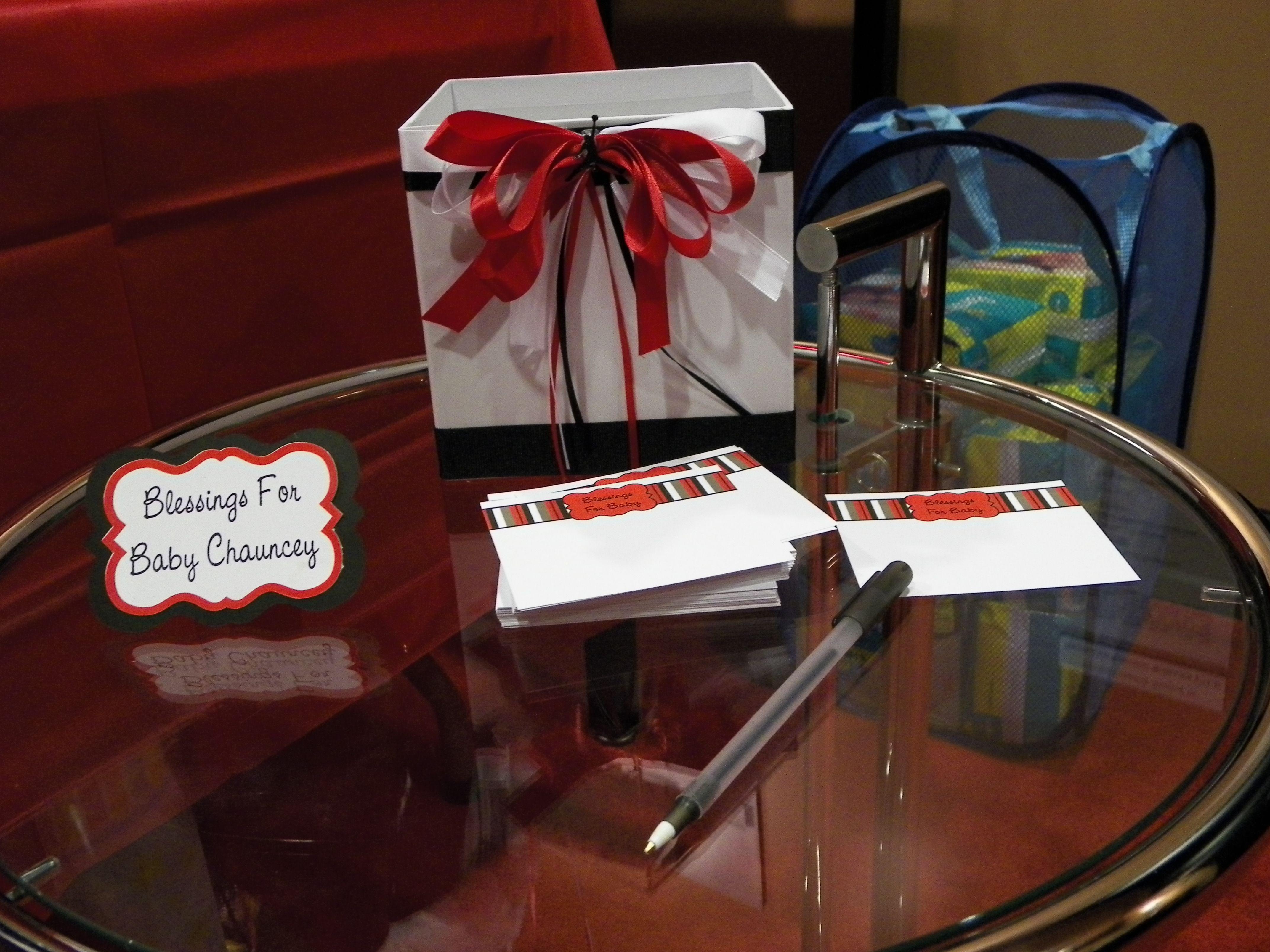Jordan Theme Baby Shower   Blessing Box For Baby