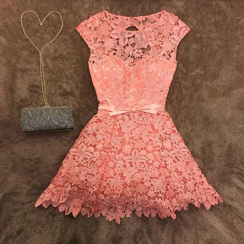 1000+ ideas about Vestidos Coral Cortos on Pinterest | Pleated skirts ...