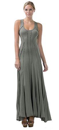 Cotton Dress with Raw Exposed Seams @ Flobell.com