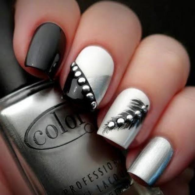 Moderno Las Uñas Negras Con Brillo Galería - Ideas de Diseño de Arte ...