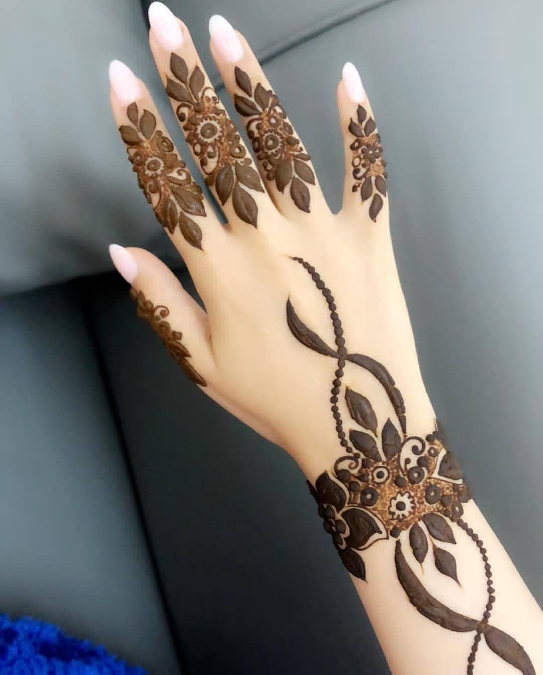 stylish arabic mehndi designs back side