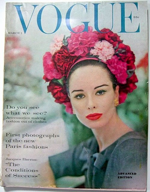 Vogue-March 1960  Vogue Fashion Magazine,March 1960. Covel Model:Model Sondra Peterson.