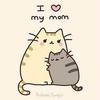 Pusheen Loves Her Mom Dessin Kawaii Animaux Dessins Mignons