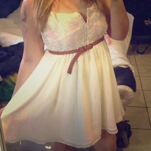 I just added this to my closet on Poshmark: WHITE CHIFFON DRESS. Price: $12 Size: L