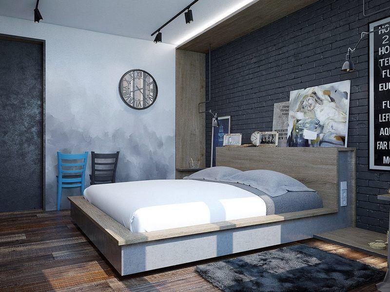 Décoration Chambre Adulte Textures Art Et Luminaires Lofts And - Chambre adulte style industriel