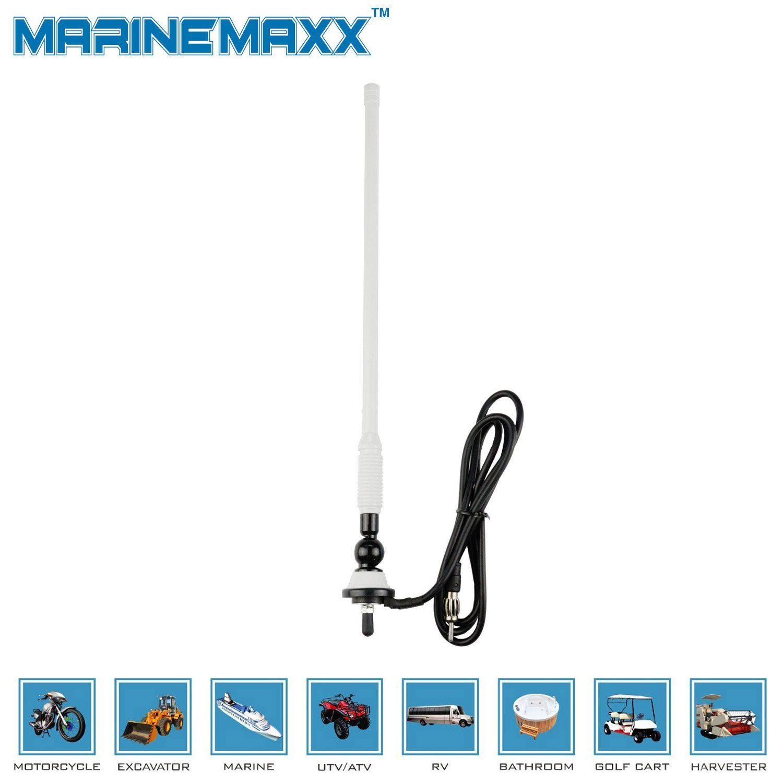 Black Waterproof Car Radio Antenna Rubber Flexible Mast Radio FM//AM Antenna