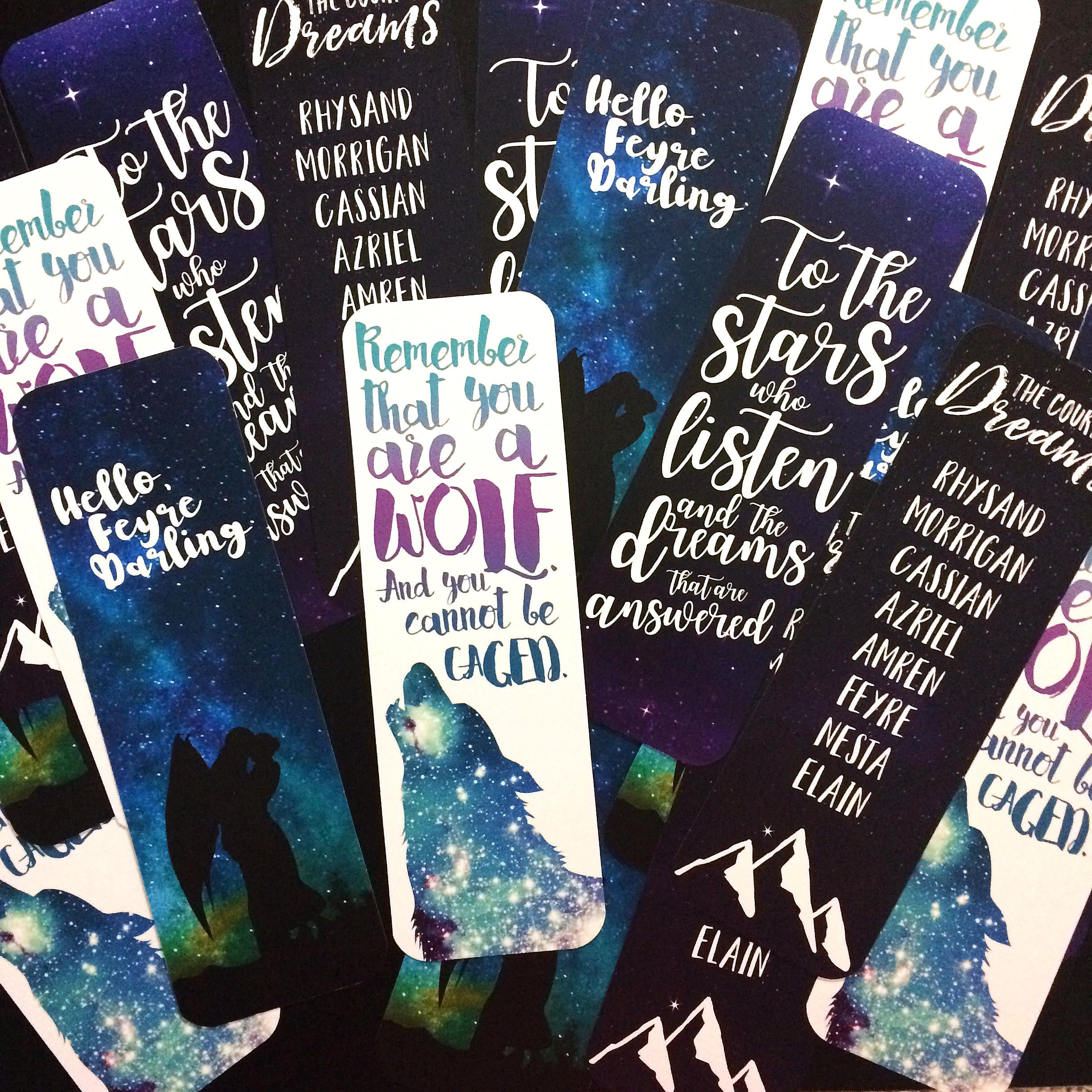 Acomaf Bookmarks Acotar Bookmark Acowar Bookmarks Bookish