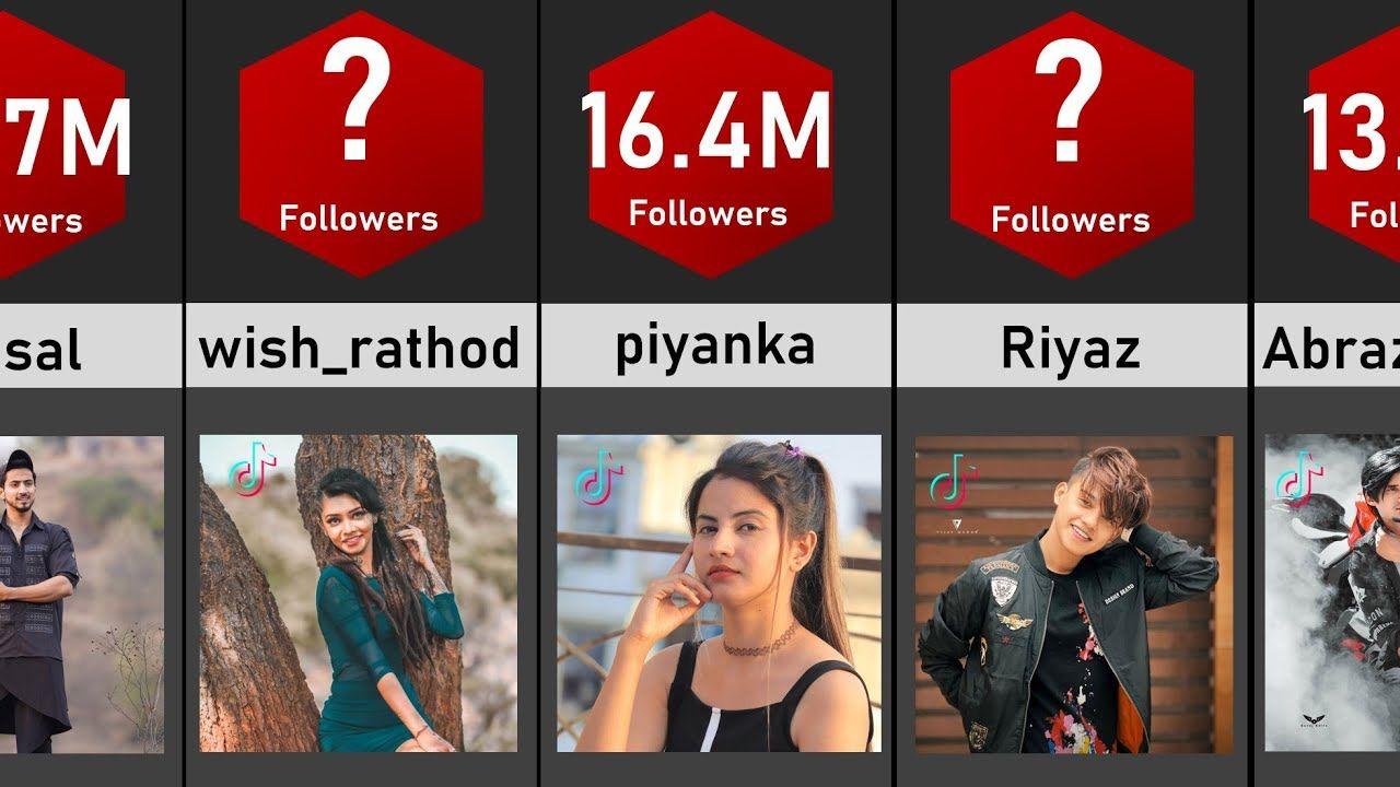 Top 50 Tiktok Stars Of India Most Followers On Tiktok In India Follow Top 50 Youtube Streaming