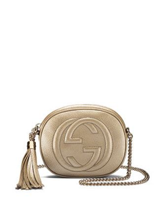 4d67d1ee9bf1 GUCCI Soho Metallic Leather Mini Chain Bag   Party Chic   Metallic ...