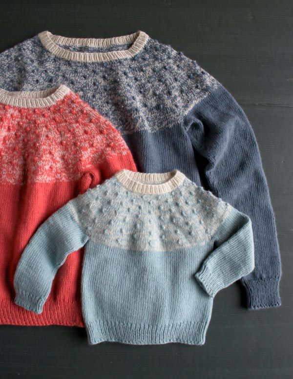 Bobble Yoke Sweater: Now Sized for Kids and Women Too! | knitting ...