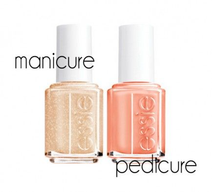 21 Amazing Manicure and Pedicure Color Combos For Spring  essie Nagellack finden Sie exklusiv auch bei Bodyzone http://www.bodyzone.ch