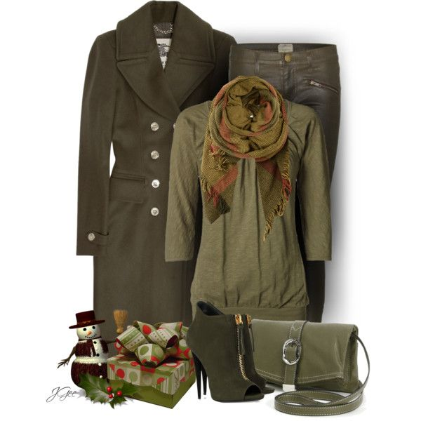Olive Green Booties, created by jgee67 on Polyvore