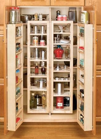 "Single Tall Kitchen Cabinet amazon - rev-a-shelf 4wp18-51-kit 4wp series 51"" swing out"