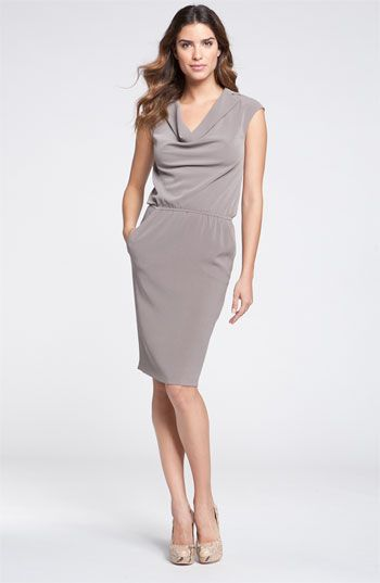 St. John Collection Cowl Neck Luxe Crepe Dress available at #Nordstrom